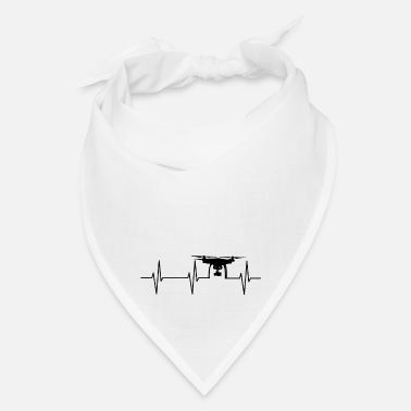 Recreational Drone drone pilot heartbeat leisure gift - Bandana