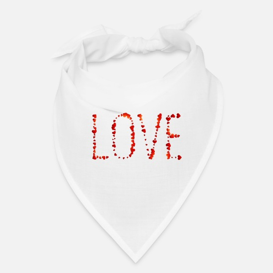 Love Caps - Love Written With Hearts - Bandana white