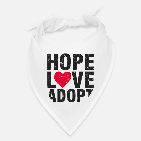 Love Caps - Hope, Love, Adopt - Bandana white