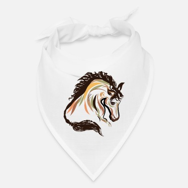 horse head painting art | horse head t-shirt - Bandana