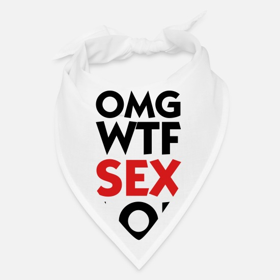 Chat Caps - OMG WTF SEX LOL - Bandana white