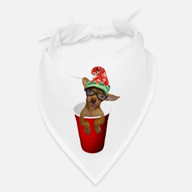 Elf Pup in a cup Elf on the shelf who? lol - Bandana