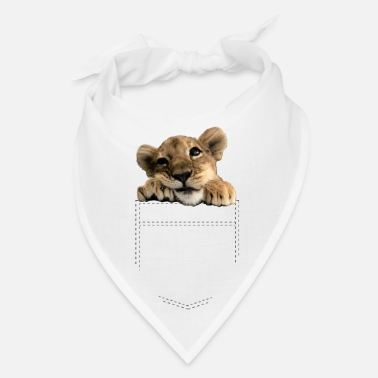 cute lion baby in breast pocket Bandana | Spreadshirt