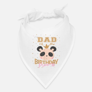 Panda Cool Birthday Girl Princess - Bandana