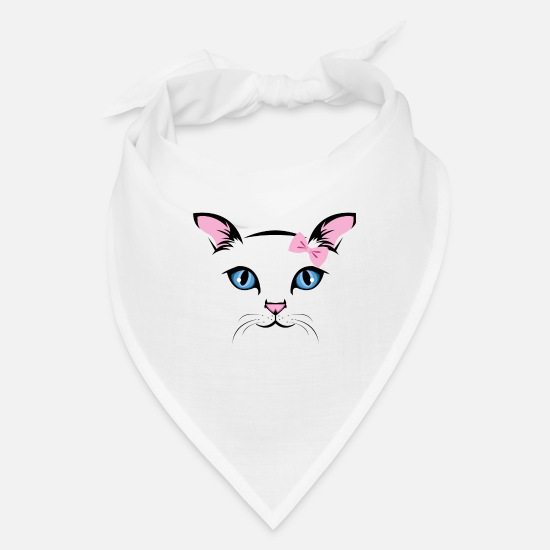 Nerd Caps - Cat Face - Bandana white