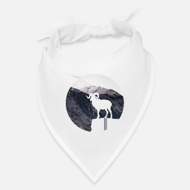 Boobearstudio Mountain goat - hiking outdoor design - Bandana