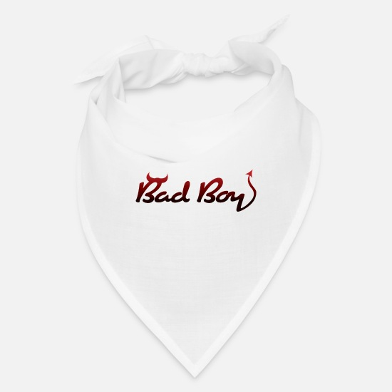 Bad Caps - Bad Boy! - Bandana white