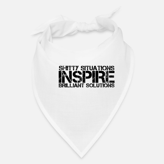 Stress Caps - Difficult situations and brilliant solutions - Bandana white