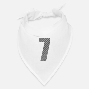 Number Lucky Number 7 with Lucky Chinese Character - Bandana