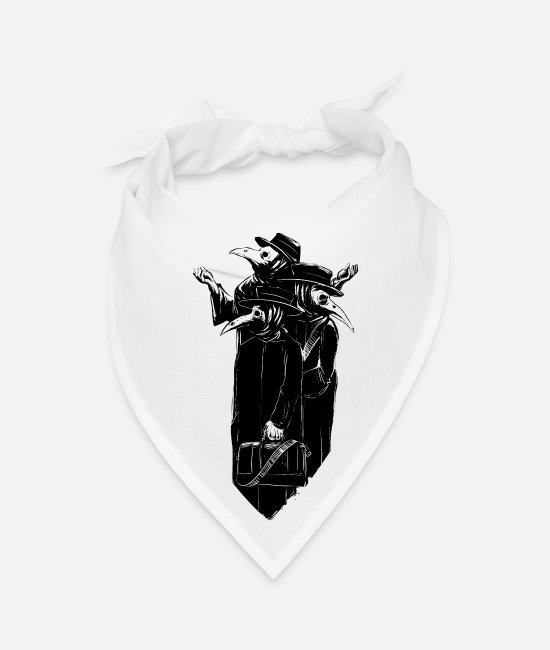 Plague Bandanas - Plague Doctors - Bandana white