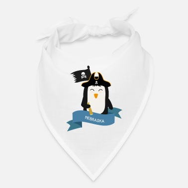 Sailing Ship Penguin Pirate Captain from NEBRASKA Gift - Bandana
