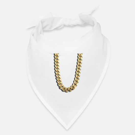 Gold Caps - Chain - Bandana white