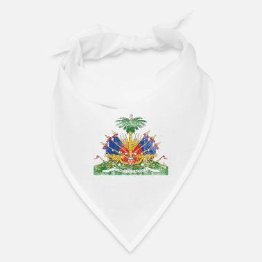 Made In Haiti Haitian Coat of Arms Haiti Symbol - Bandana