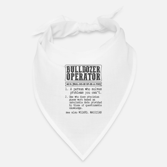 Bulldozer Caps - Bulldozer Operator Definition Gift Mug - Bandana white