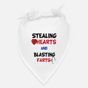 Funny Valentines Day Stealing Hearts And Blasting - Bandana