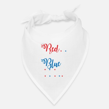 Beer Red White Blue Beer Funny Fourth of July Apparel - Bandana