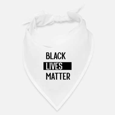 Truth Simple Black Lives Matter in Black and White - Bandana