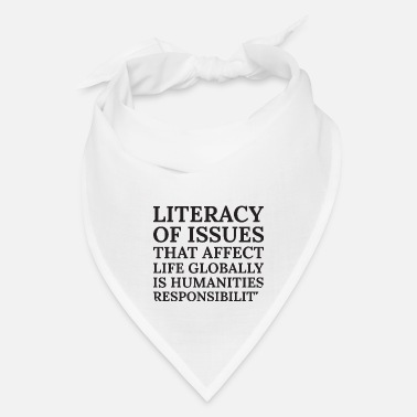 Affection Text: Literacy of issues that affect... (black) - Bandana