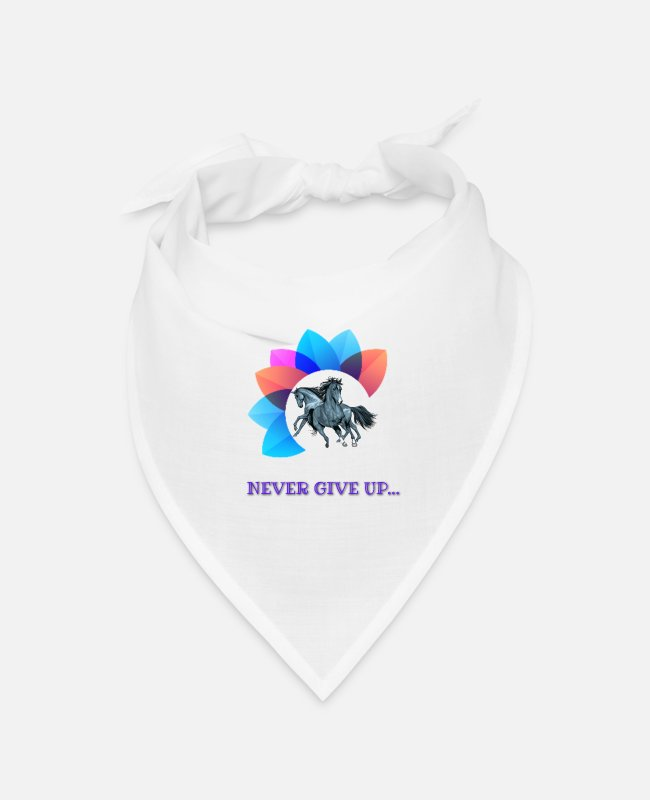 Never Bandanas - Never Give up - Bandana white