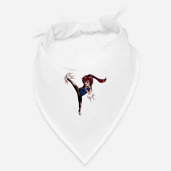 Fit Caps - Chibi Girl with kick - Bandana white