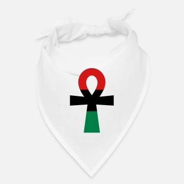 Red Black And Green Red, Black & Green Ankh - Bandana
