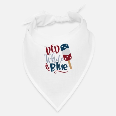 Blue White Red White and Blue - Bandana