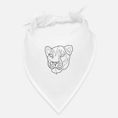 Lion Art Lion Head Line - Bandana