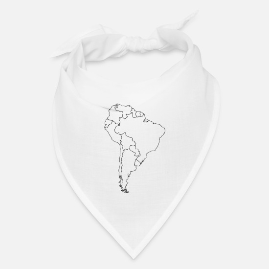 Brazil Caps - South America - Bandana white