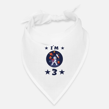 Children's Birthday Party 3 years astronaut children 3rd birthday child gift - Bandana