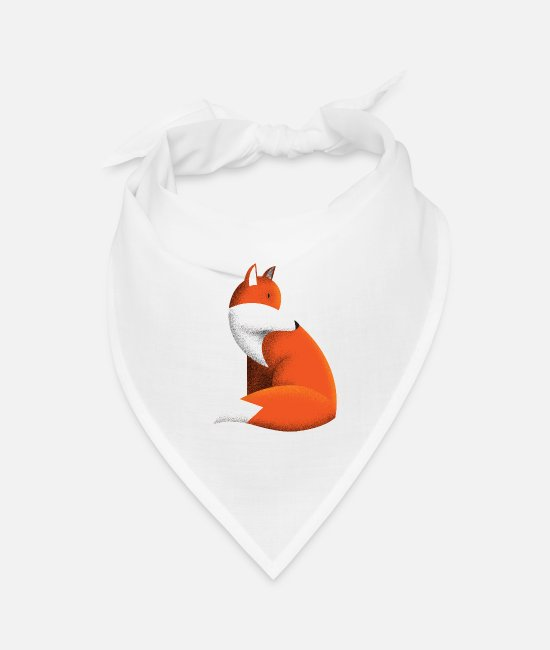 Cute Bandanas - Little Fox - Bandana white