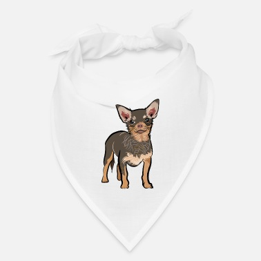 Brown chihuahua dog | chihuahua dog lover t-shirt - Bandana