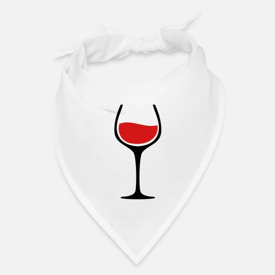 Alcohol Caps - Wine Glass TWO COLOR VECTOR - Bandana white