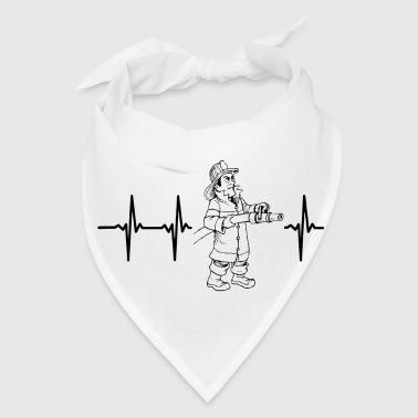 My heart beats for firefighters - Bandana
