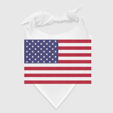 Independence Day cross-stitch american flag - Bandana