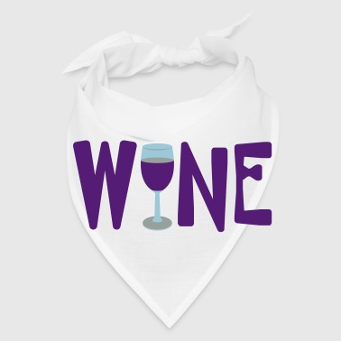 Wine Glass Text - Bandana