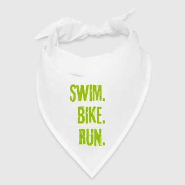 Triathlon Swim Bike Run (green) - Bandana
