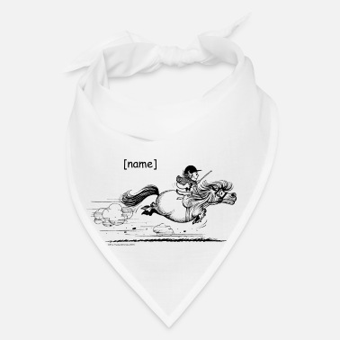 Sprinting PonySprint Thelwell Cartoon - Bandana