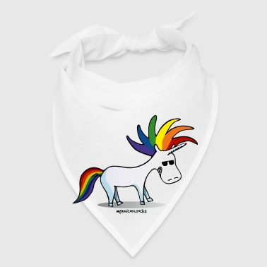 Punk unicorn - unicorn and rainbow - Bandana