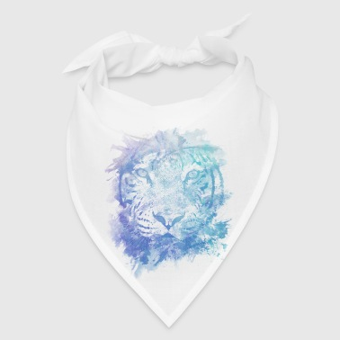 Tiger Face - Abstract Creative Watercolor Style - Bandana