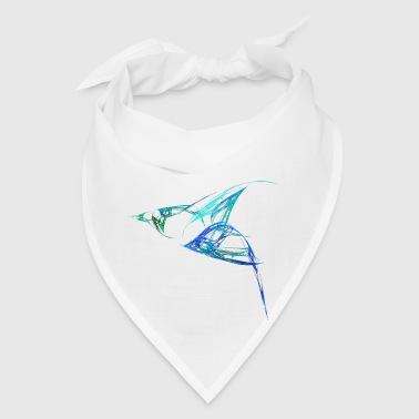 Fractal - Bluebird in Flight - Bandana