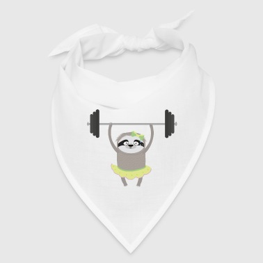 Fitness muscle Sloth wit Weights - Bandana