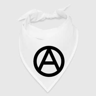 The Anarchy A Symbol  Anarchy Anarchist Logo black - Bandana