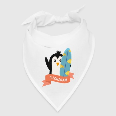 Penguin Surfer from Michigan Siok7z - Bandana