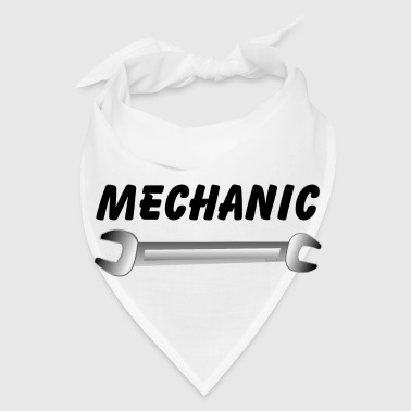 Mechanic Wrench Text - Bandana