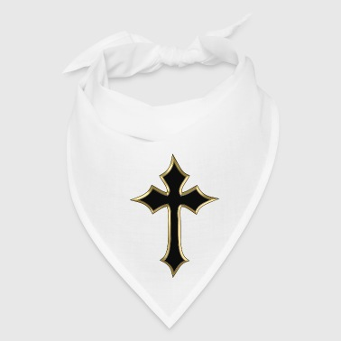 Black Christian cross - Bandana