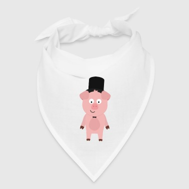 Groom Pig with Hat and bow tie - Bandana