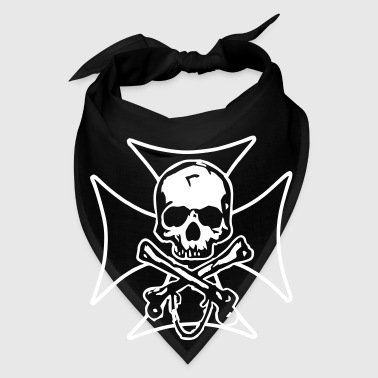 biker cross  skull and crossbones - Bandana