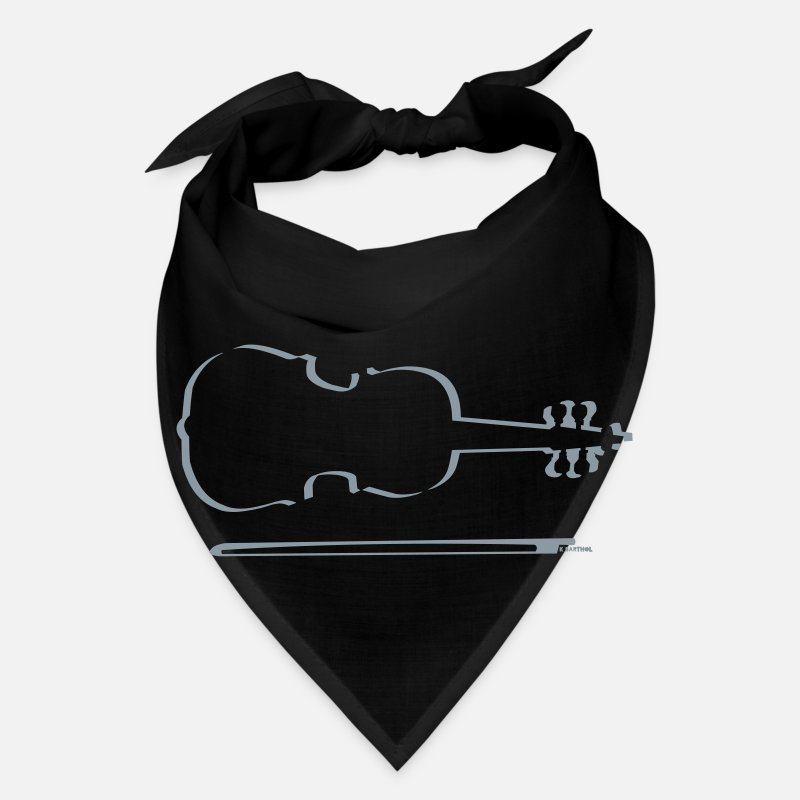 Violin Caps - Violin Outline - Bandana black