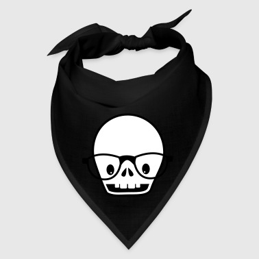 new skull with glasses - Bandana