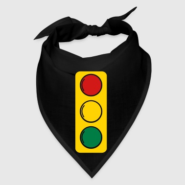traffic lights red amber and green - Bandana